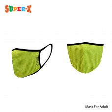 Super-X Dry Fit Adult Reusable Mask (Neon Green)
